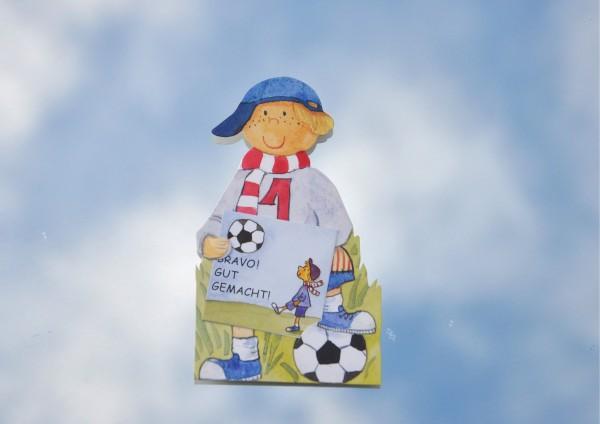 Fußball - Geschenkaufklebefigur