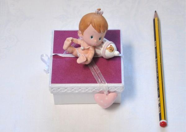 Zur Geburt Mädchen - Geschenkschachtel