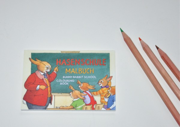 Hasenschule - Malbuch - 2 Größen zur Auswahl