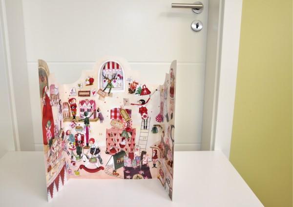 Weihnachtswerkstatt - Adventskalender mit Türchen zum Aufklappen