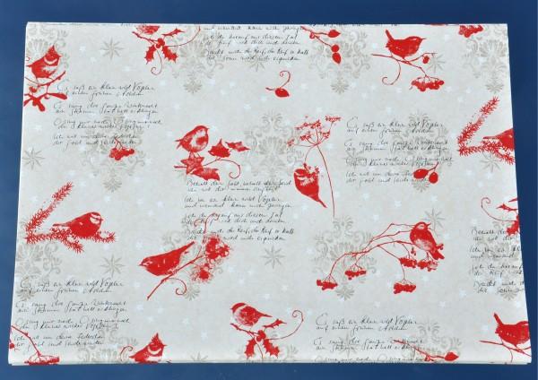Vogelpoesie poetisches Geschenkpapier mit einem Liedtext