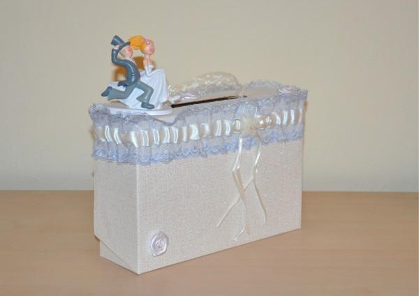 Geschenkschachtel / Koffer zur Hochzeit - mit Schwung ins Eheglück