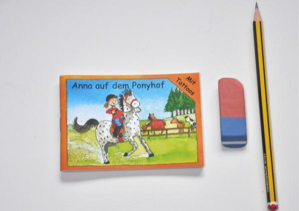 Anna auf dem Ponyhof - Minibuch mit Tattoos