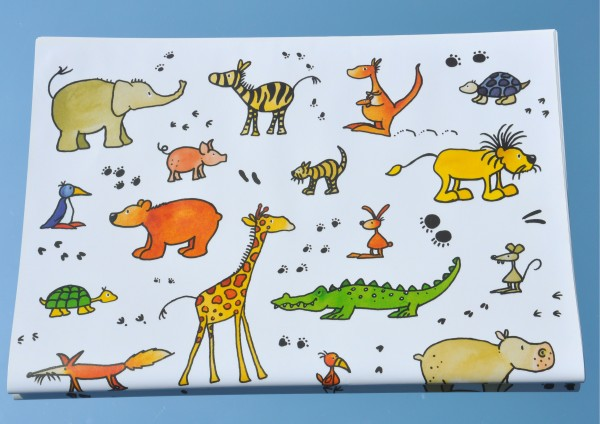 Tiere - Geschenkpapier