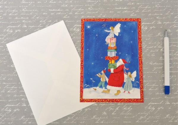 Geschenketurm - Klappkarte mit Umschlag