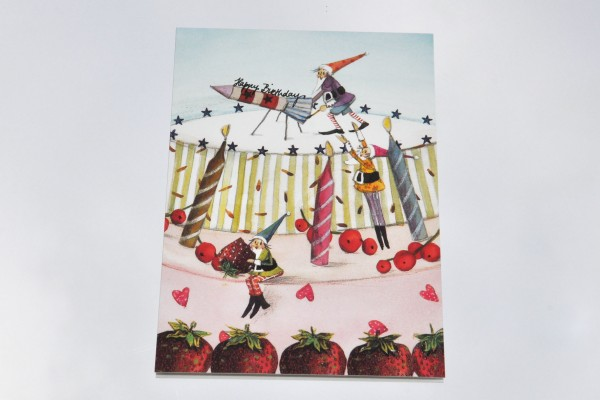 Geburtstagstorte Zwerge - Postkarte