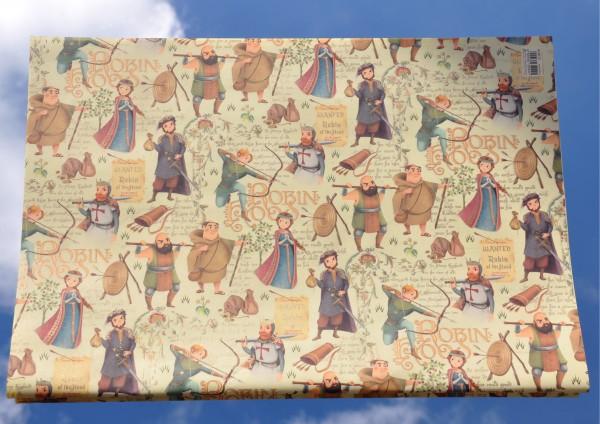 Robin Hood - Geschenkpapier mit Golddruck