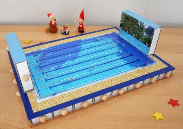 Schwimmen - Adventskalender zum selbst befüllen