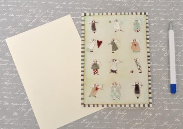 Geschenkeengel - Klappkarte mit Umschlag