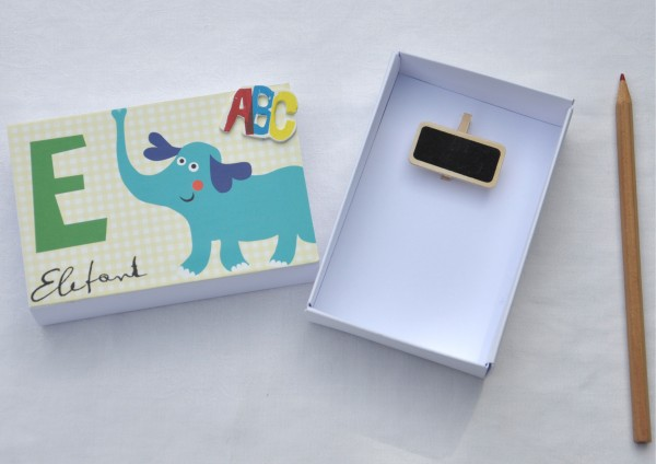 Schulanfang E wie Elefant - Geschenkschachtel