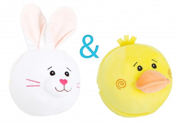 Hase und Ente - Wendetier Plüschball
