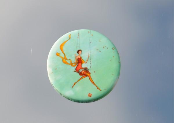 auf der Schaukel - Ø 5,6 cm - Magnet