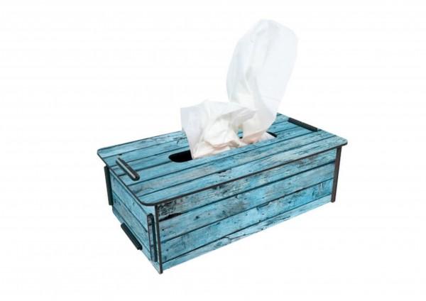 Holz türkis - TaschentuchBox