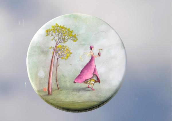 Wachsende Freude - Ø 8,8 cm - Magnet