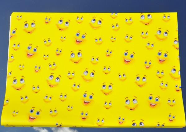 Smiley Gelb - Geschenkpapier
