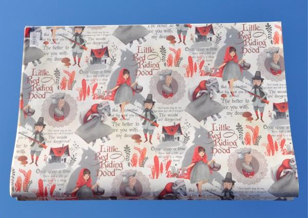 Rotkäppchen - Geschenkpapier mit Golddruck