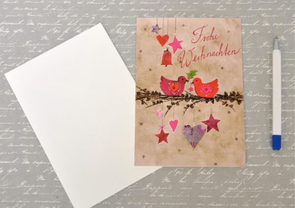 Weihnachtszweig - Klappkarte mit Umschlag