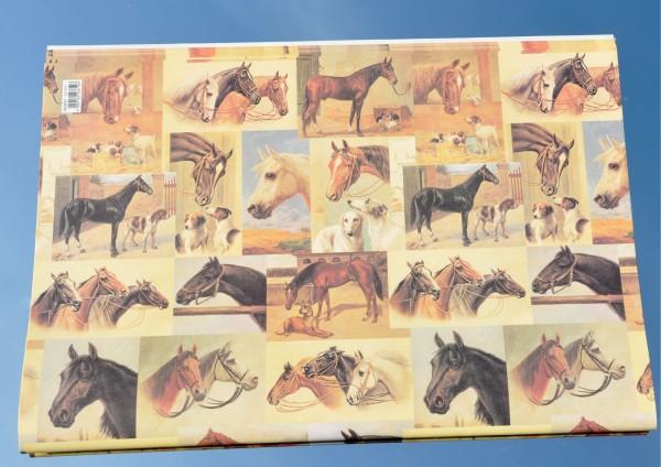 Pferde im Stall - Geschenkpapier