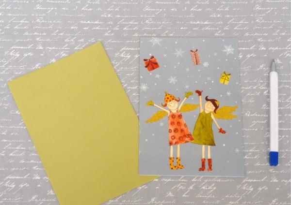 himmlische Weihnachtszeit - Klappkarte mit Umschlag