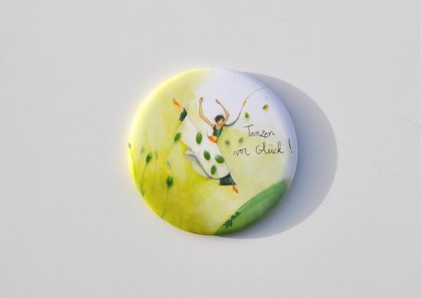 Tanzen vor Glück - Ø 5,6 cm - Magnet