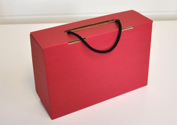 Koffer aus Pappe - ROT - Geschenkschachtel