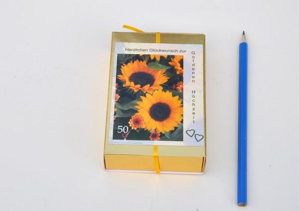 50 Hochzeitstag - Goldene Hochzeit - Sonnenblume