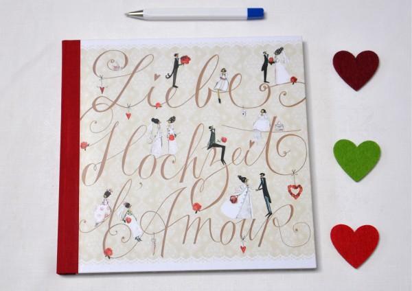 Hochzeit L´amour Liebe - Gästebuch
