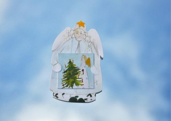 Weißer Engel - Geschenkaufklebefigur