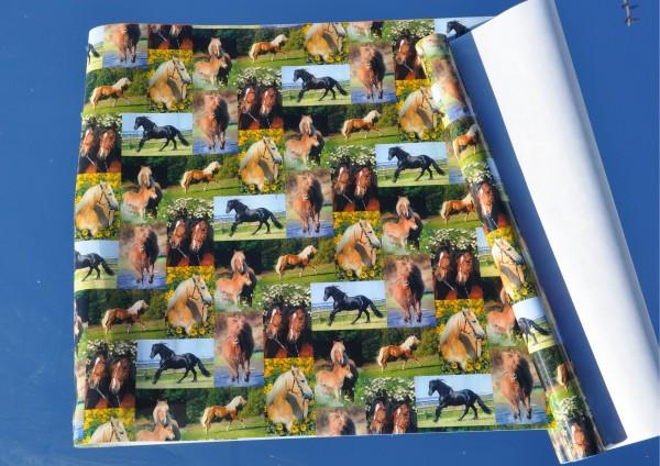 Pferde - Bucheinschlagpapier