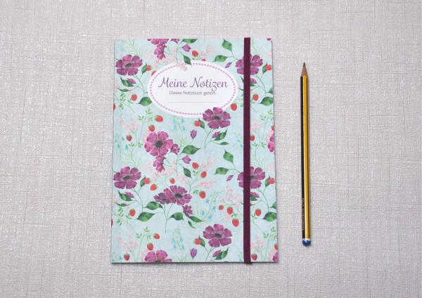 Blütenromantik - Notizheft