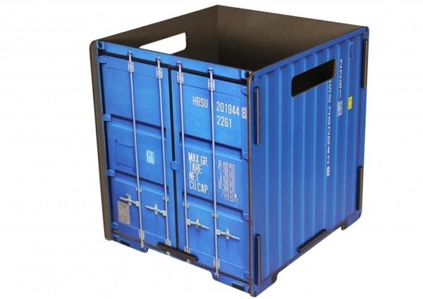 Container Papierkorb - Farbe Blau