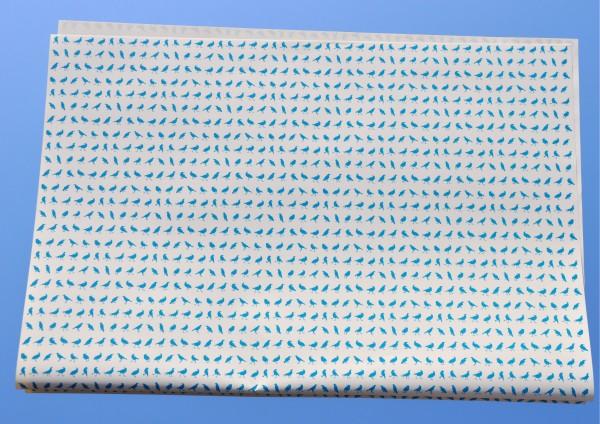 Mini Vögel Türkis - Geschenkpapier