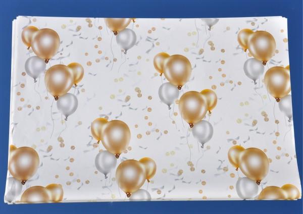 Luftballons gold silber - Geschenkpapier