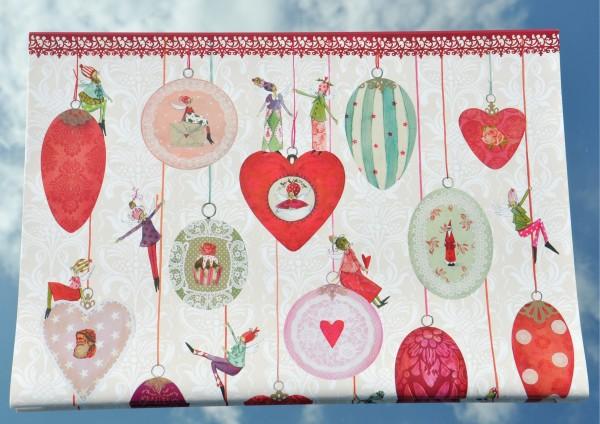 Weihnachtsengel mit Kugel - Geschenkpapier