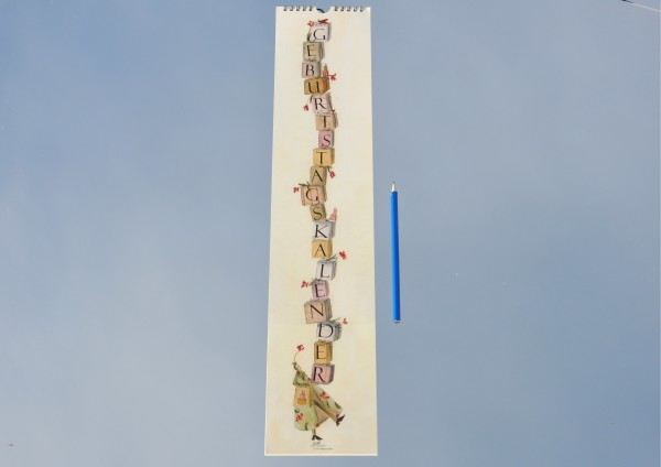 Tassengrüße - Geburtstagskalender langes Format