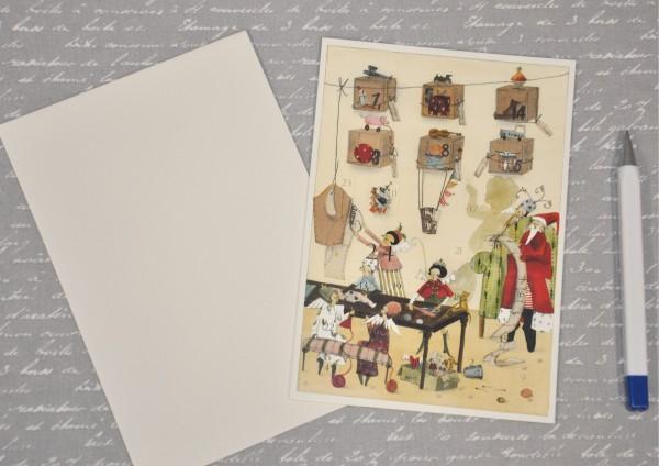 Weihnachtswerkstatt - Adventskalenderkarte