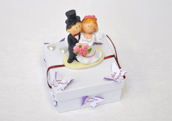 Geschenkbox zur Hochzeit - mit Wünsche-Schmetterlingen