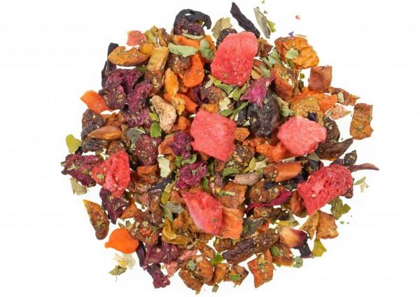 Erdbeer Moringa mild - Früchtetee / Walbeer Moringa Geschmack