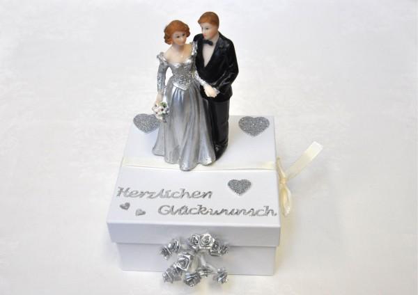 Geschenkbox zur Silbernen Hochzeit - Hochzeitspaar
