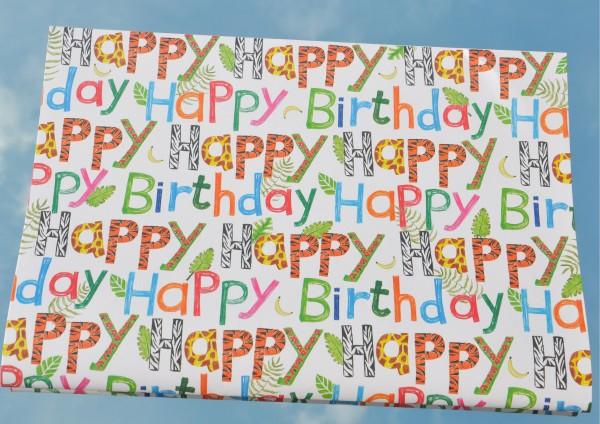 Happy Birthday - Geschenkpapier für Kinder
