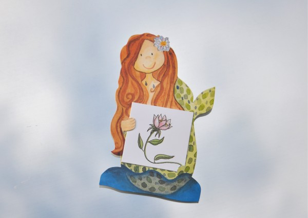 Meerjungfrau- Geschenkaufklebefigur
