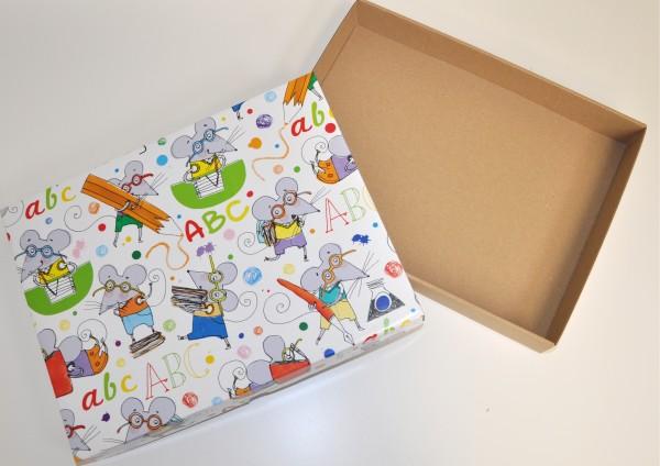 ABC Mäuse - Geschenkschachtel mit Deckel