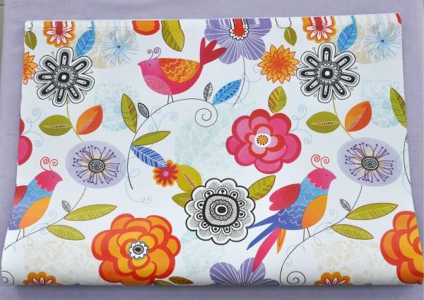 Blumen Retro - Geschenkpapier