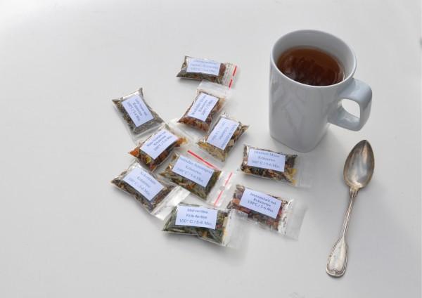Kräutertee je 1 Tasse verschiedene Stückzahlen zur Auswahl