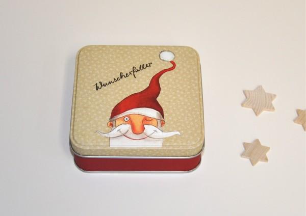 Wunscherfüller Weihnachtsmann - Geschenkdose aus Metall