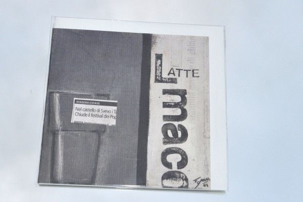 Latte macchiato - Klappkarte mit Umschlag