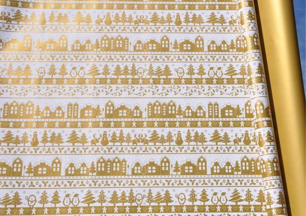 Weihnachten Gold - Geschenkpapier