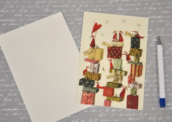 Geschenketurm - Adventskalenderkarte