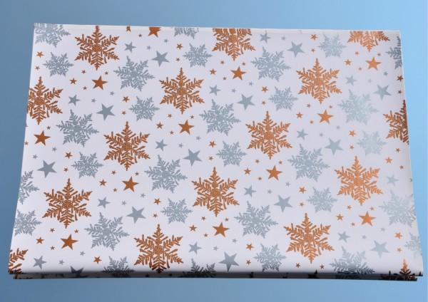 Schneesterne - Geschenkpapier