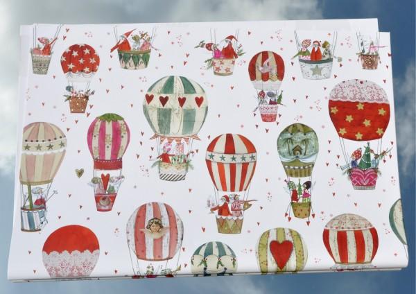 Weihnachtsballon- Geschenkpapier